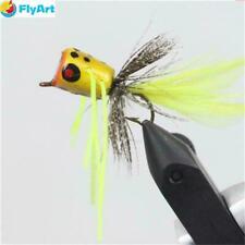 Flyafish 10 pcs Bass Popper Dry Fly Fishing Lure Panfish Bait