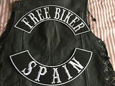 Free Biker Spain Patch Banner XL Set je 39x8,7 cm Biker Kutte MC ohne Kutte