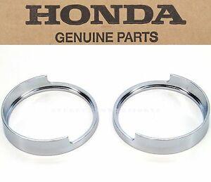 See Notes OEM Honda Chrome Fork Rib Set CB350 450 CB750 350G CL350 450 Trim O56
