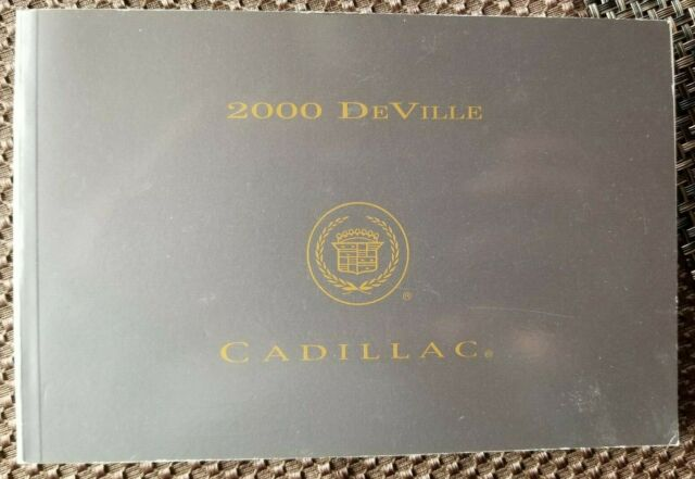 2000 Cadillac Deville Owners Manual User Guide