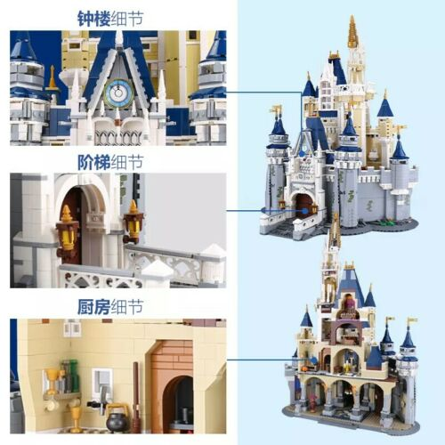 4080 Pc 16008 Cinderella Princess Castle City Building Blocks bricks Movie 71040