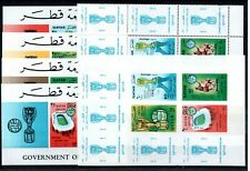 Qatar 1966 SOCCER CHAMPIONCHIP better sets ( perf/ imp.)and FOUR S/S MNH