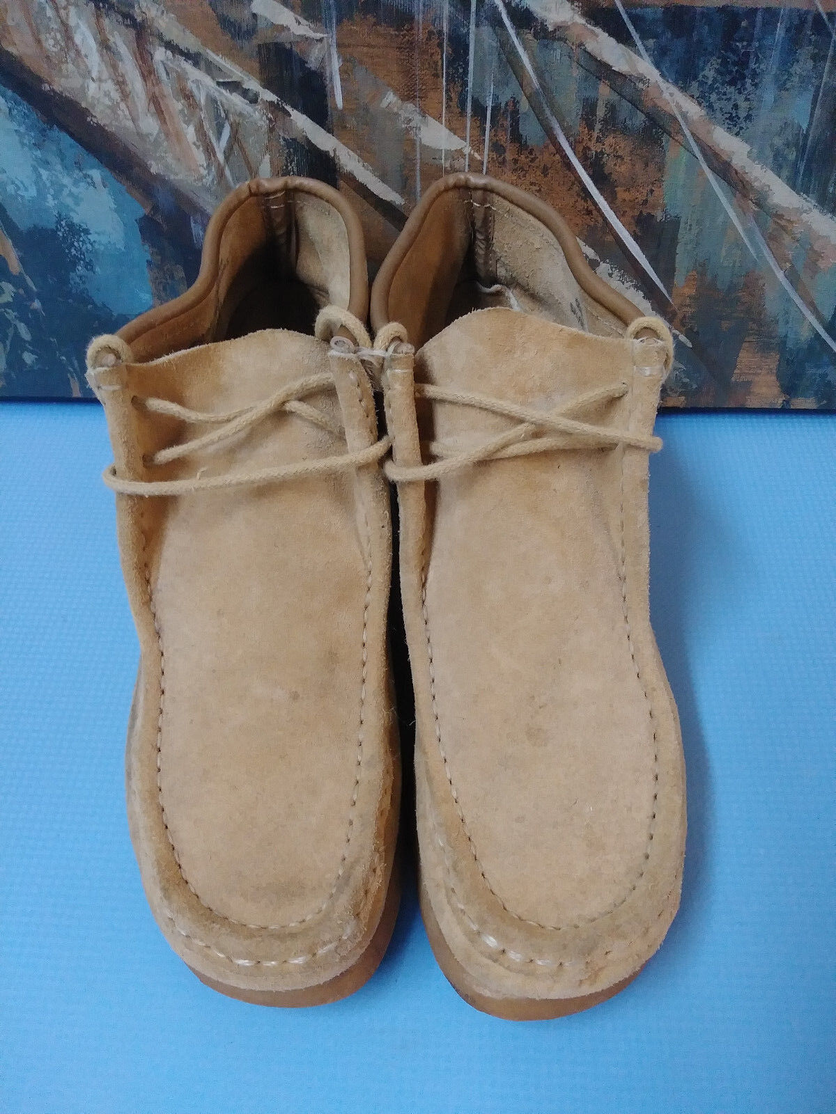 SUBURBANS ANKLES BOOTS,  9.5 D Uomo TAN made in Spain