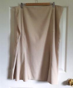 Suede-Look-Flared-Midi-Skirt-Cream-Plus-Size-Uk-20-Flippy-Calf-Length-Bonmarche