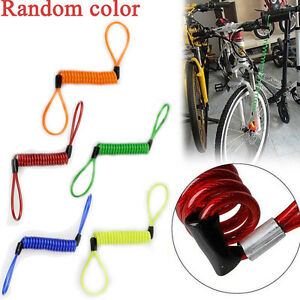 Motorcycle Bike Scooter Alarm Disc Lock Security Spring Reminder Cable Strong US