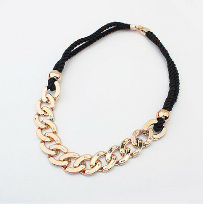 Fashion Jewelry Charm Chunky Women Gold Chain Pendant Necklace Bib Choker Gift