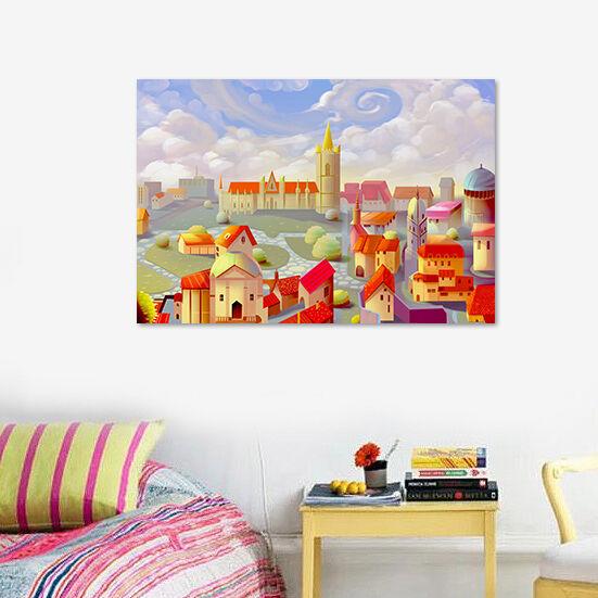 3D Mrchen Stadt 613 Fototapeten Wandbild BildTapete AJSTORE DE Lemon