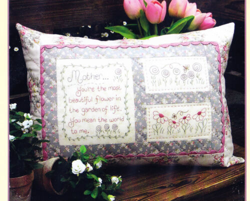 Rivendale PATTERN stitchery /& pieced cushion PATTERN Mother SALE
