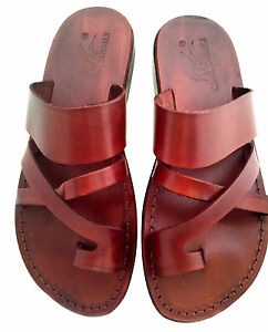 latest select for latest wide range Details about Brown Leather Jesus Gladiator Biblical Sandals Strap Handmade  UK 4-11 EU 36-46