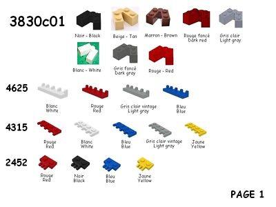 Brique modifiées 2 LEGO PAB-50 Pièces détachées Brick modified 2 Parts