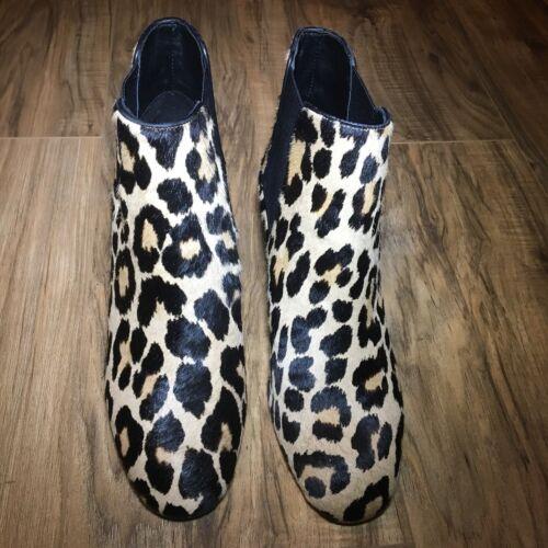 d28e3ae0a688 ... Kate Spade Leah Leopard Calf Hair Block Heel Ankle Booties 5M NWOB  298