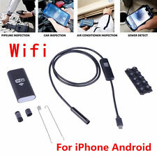 Waterproof 5M 6LED WiFI Endoscope Borescope Inspection Camera For iPhone Android