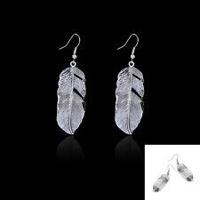 Beautiful Hot Retro Bohemian Chic Feather Alloy Design  Dangle Ear Hook Earrings