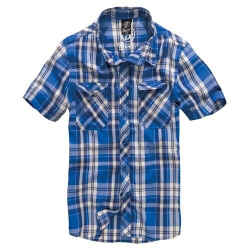 Brandit Men/'s Shirt Roadstar short Sleeve Casual Flannel Worker S to 5XL