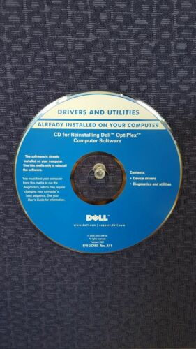 Dell CD for reinstalling Dell Optiplex Computer Software
