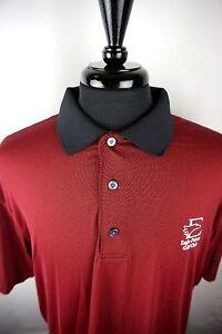 Footjoy-Men-039-s-Shirt-Golf-Polo-Red-and-Black-Microcheck-Black-Collar-SizeXL