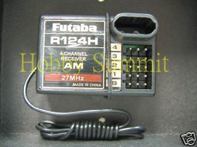 Futaba R124H 4 canales AM Radio Receptor 27 Mhz re R C Camión Tractor TANQUE 4WD