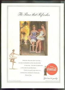 Details about COCA-COLA Rare VINTAGE Coke BALLERINA GIRLS 1953 ad