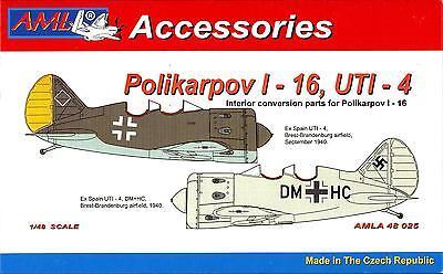 AML Models 1/48 POLIKARPOV I-16 UTI-4 German Trainer Resin & PE Conversion Kit