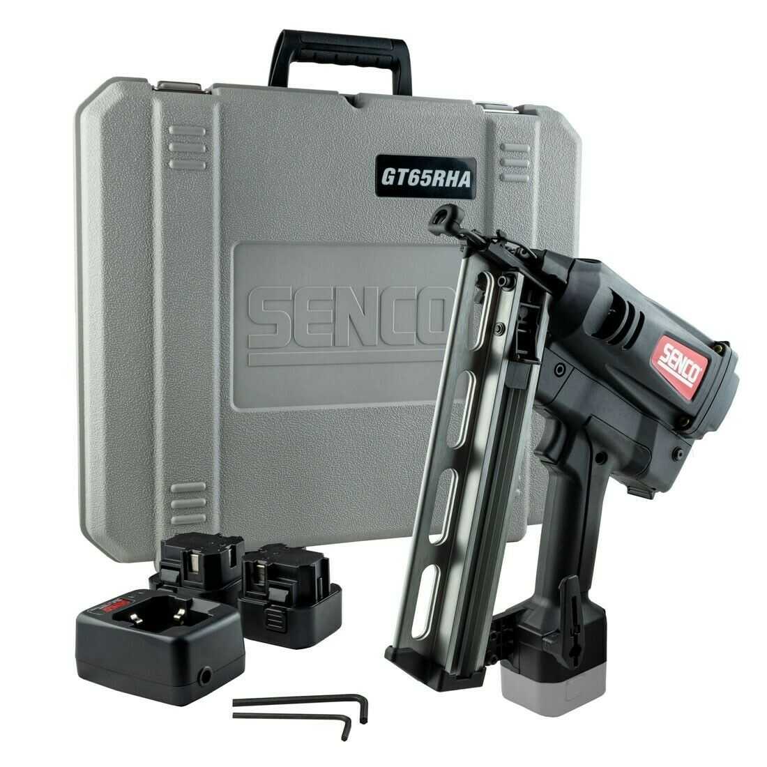 Senco 16g Second Fix Straight Nailer GT65 2 x Batteries + Charger - Fires 16g