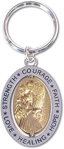Angelstar Hope  Courage Spinner Keyring