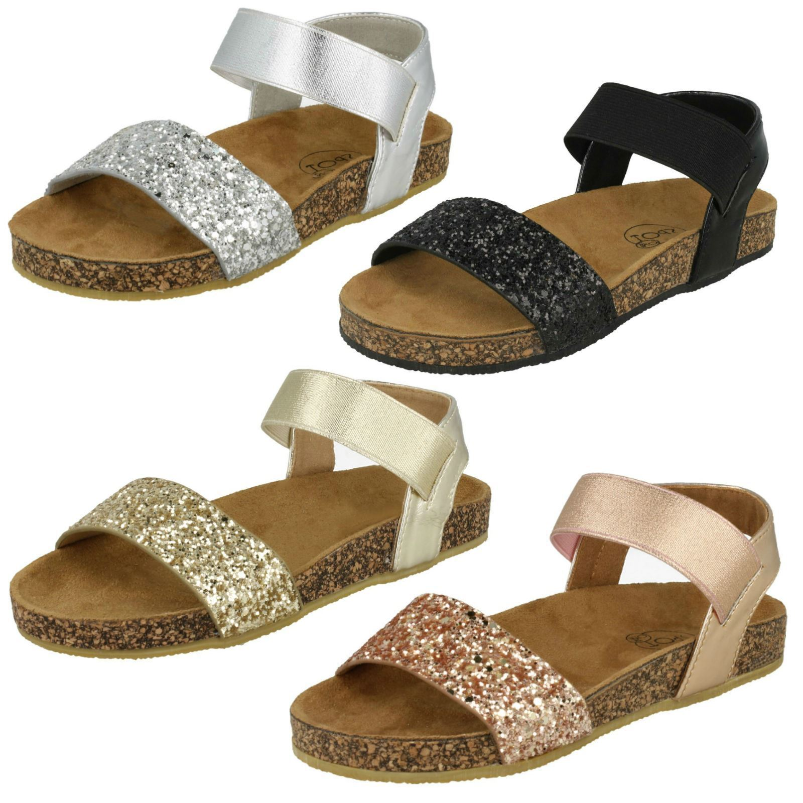 Man/Woman Girls Spot On Glitter In Mules Sandals Many styles In Glitter short supply List of explosions e4b959