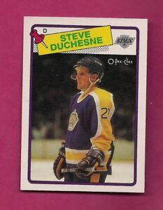 1988-89-OPC-182-KINGS-STEVE-DUCHESNE-ROOKIE-NRMT-MT-CARD-INV-A6388