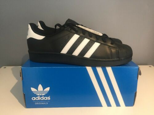 Uk Superstar Fondation Originals Adidas Noir Blanc 13 Classic Genuine qv10HWwq