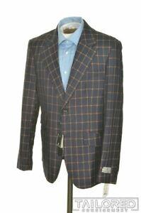 NWT - CERRUTI 1881 Blue Check Wool Blazer Sport Coat Jacket - EU 52 / US 42 R