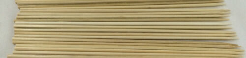 """50 x 10/"""" BAMBOO WOODEN SKEWERS BBQ MEAT KEBAB FRUIT CHOCOLATE FOUNTAIN STICKS"""