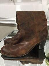 FRYE 'Jackie Button' Leather Riding Boot (Women) Size 9, Cognac