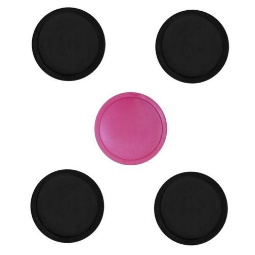 5 Air Pucks: 4 small Black + 1 Pink for Table Hockey ( 2.5 inch parts )