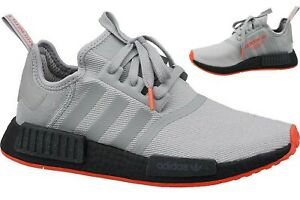 Details zu Adidas NMD R1 Originals Sneaker F35882 grauschwarzrot
