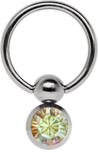 Titan Intimate Piercing Ring Bcr 1,2mm with Double Captive Ball Ring 5//8mm and A