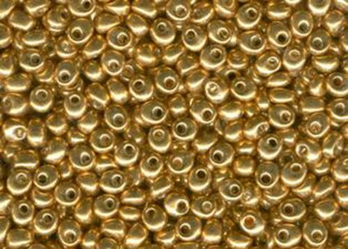 Miyuki MaGaTaMa Drops Japanese Glass Seed Beads 4 mm Metal Coated 1053
