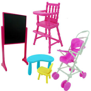 Phenomenal Details About School Desk Trolley Table Baby High Chair Furniture For 4 In Kelly Dollhouse C Short Links Chair Design For Home Short Linksinfo
