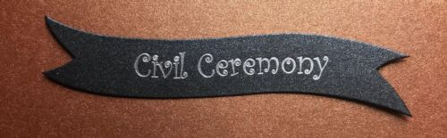 Civil Ceremony banners//card toppers on 300gsm boards pk10 Choose your Colour