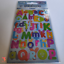 2 Sheets Laser Vinyl Alphabet Stickers Colourful Letters Scrapbooking Adhesive