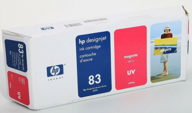 Expired in 2014 Genuine HP 83 C4942A Magenta UV Ink Cartridge For DesignJet 5000