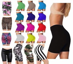 WOMENS LADIES CYCLING COTTON STRETCHY LYCRA SHORT ACTIVE CASUAL SPORT LEGGINGS