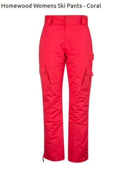 NEW Womens Mountain Warehouse Ski Trousers Salopettes 18 Coral Pink RRP .99