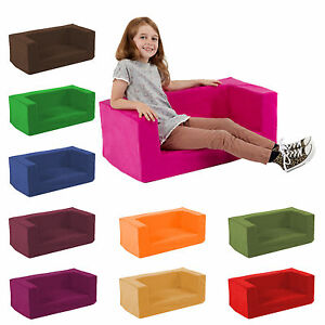 Kids Children S Double Comfy Settee Toddlers Foam Sofa