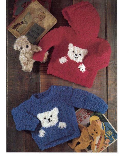 Baby Childrens Teddy Bear Sweater Chunky Knitting Pattern 107 Ebay