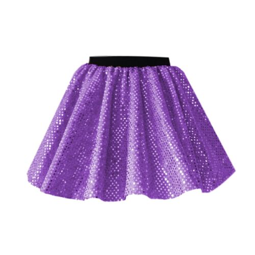"GIRLS DANCE COSTUME SEQUIN 12/"" Skirt /& Scarf JAZZ TAP Show Festival Costume UK"