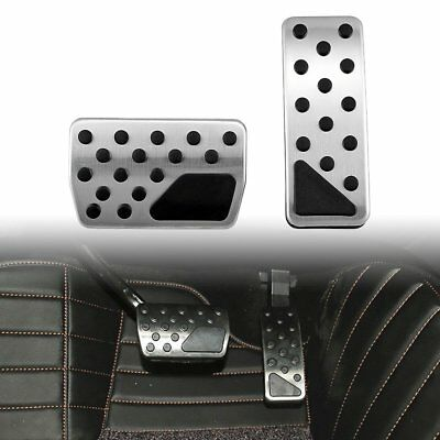 Stainless Steel Gas Brake Pedal Covers Compatible with 2011-2018 Jeep Grand Cherokee WK2 Dodge Durango Model Pedal Kit