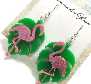 Monstera-Leaf-amp-Flamingo-Earrings-Laser-Cut-Acrylic