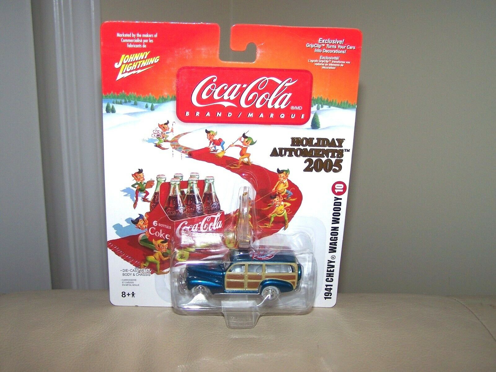2005-Johnny bianca Lightning Coca Cola - Chevy-Vagón Woody-como Nuevo