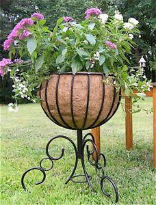 """Urn Basket Planter 24"""" H  w/Coco Fiber Liner NEW"""