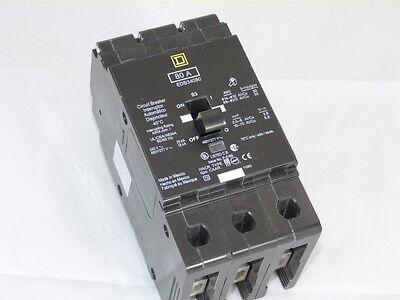 NEW IN BOX SQUARE D EDB34080 80A 3 POLE CIRCUIT BREAKER SQD
