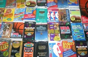 HUGE LOT: 300 Unopened Basketball Cards in Factory Sealed Packs of NBA Cards